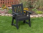 2 Ft Poly Resin Lumber Mission Amish Crafted Patio Chair With Cupholder Arms