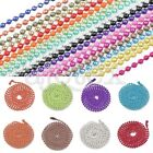 18 Colour 28Inch Wholesale U Ball Chain Bead Connector 1.5/2.4mm Accessory