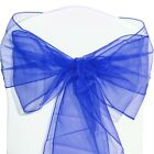 1-100 Organza Sashes Chair Cover Bow Sash Fuller Wider Bows Wedding Party Decor