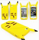 For iPhone 4/5/5S/SE/5C/6/6S+/7/7+PLUS - Soft Silicone Rubber Case Cover Pikachu