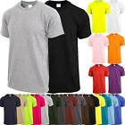 Mens Crew Neck T SHIRTS ACTIVE Solid Tee Short Sleeve Comfort Summer Basic image