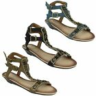 LADIES WOMENS SPOT ON WEDGE HEEL OPEN TOE BEADED TWIN ANKLE STRAP SANDALS F1868