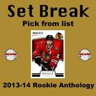 (HCW) 2013-14 Panini Rookie Anthology NHL Hockey Cards Set Break - You Pick $0.75 USD on eBay