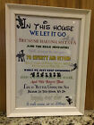 In This House We Do Disney Poster/Picture (Great Gift for any Occasion)
