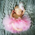Cute Neugeborenes Baby Kinder Mädchen Tutu Rock & Stirnband Foto Requisit