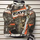 FXR CHILD/YOUTH  HELIX Snowmobile Jacket REALTREE/SNOW/BLAZE  Free Shipping