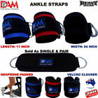 DAM WEIGHT LIFTING ANKLE STRAPS D-RING PULLEY CABLE ATTACHMENT GYM LEG FITNESS