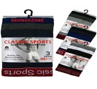 6 Pairs Mens Classic Sports Cotton Boxer Shorts Trunks Underwear / Red Waistband