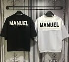New Football Soccer Manuel Short Sleeve Mesh Jersey Top T-Shirts Cropped Tee