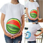 Plus Pregnant Woman Loose Casual T Shirt Cartoon Print Watermelon Tops Maternity