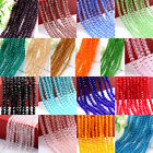 New 4/6/8/10mm Rondelle Faceted Crystal Glass Loose Beads Diy Findings ff