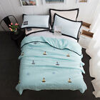 Cotton throws Embroidery solid color air conditioning quilt Summer cool blanket