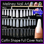 60/120/360pc Coffin Ballerina Shape Full Cover Long Nails False Tips Gel Acylic