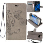 Strap Leather Folio Stand Wallet Card Case Shockproof For Samsung Galaxy Phones