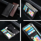Top Real Cowhide Cowhide Leather Wallet Card Sleeve Pouch Cover Case For Samsung
