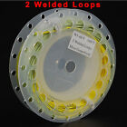 100FT Fly Fishing Line Double Color Weight Forward Floating line 2 Welded Loops