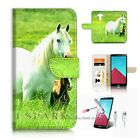 LG G4 Wallet Case Cover AJ20202 White Horse