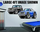 Ford Bronco 1966 Cartoon Truck Wall Graphic Garage Decor Man Cave Decal Stickers