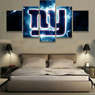 5Pcs New York Giants NY Sport Art Wall Painting Modern Home Decor Canvas Picture