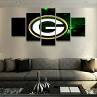5Pcs Green Bay Packers Sports Canvas Wall Painting Modern Art Picture Home Decor