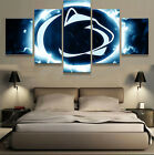 5Pcs Penn State Nittany Lions Art Wall Modern Painting Home Decor Canvas Picture