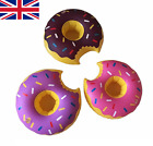 Inflatable Donut Floating Drink Can Cup Holder Hot Tub Swimming Pool Party Bath