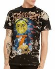 Metallica T-Shirt Life Is Pain thrash metal rock Official Bleached L XL 2XL NWT
