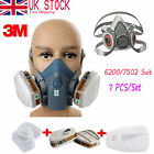 3M 6200 7502 7 in 1 Suit Spray Paint Dust Mask Vapour Particulate Respirator DYN