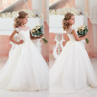 Girl Princess Dress Kid Party Pageant Wedding Bridesmaid Tutu Dresses
