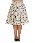Hell Bunny Vintage 50s Rockabilly Jive CIRCUS Plus Size Swing Skirt 18 20 22