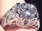 Stunning CZ and 925  Sterling Silver Cocktail/ Engagement Ring