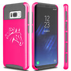 For Samsung S5 S6 S7 Edge S8 + Dual Shockproof Hard Soft Case Cover Horse Head