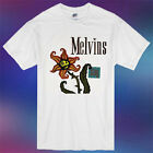 New The Melvins STAG Rock Band Album Cover Logo Men's White T-Shirt Size S-3XL image