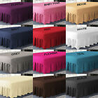 Plain Dyed Extra Deep Fitted Valance Sheet Poly-Cotton Bed Sheet In All Sizes image
