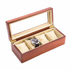 Bey-Berk Wood Watch Box with Glass Top and Velour Lining