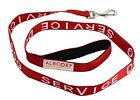 Service Dog Leash with Padded Neoprene Handle and Reflective Silk-Screen Print.