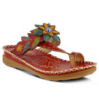 New L'Artiste Women's Red BERRY-RD Leather Sandals