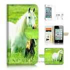 iPhone 4 4S Wallet Case Cover AJ20202 White Horse