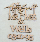 Personalised Wooden MR & MRS Branch Shape with Family Name Wedding Keepsake