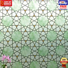 Window Film 3D Textured Frosted Vinyl PVC Glass Decorative Privacy Paper Hexagon