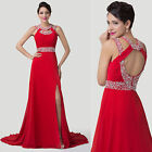 Chiffon Ball Gown Evening Prom Party Formal Pageant Graduation Bride Long Dress