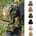 50L Outdoor Sports Hiking Rucksack Combination Bag Travel Canvas Backpack
