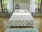Monoco Velvet Fabric Bed Storage Mattress 3ft 4'6 Double 5' King size