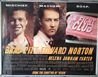 Cinema Poster: FIGHT CLUB 1999 (Quad) Edward Norton Brad Pitt Meat Loaf