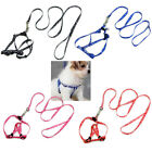 New Small Dog Pet Puppy Cat Adjustable Nylon Harness with Lead leash 5 Colors