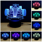 Motorcycle  3D Night Light 7 Color Change LED Desk Touch Table Lamp Kids Gifts