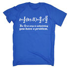 First Step Maths Problem MENS T Shirt birthday math geek nerd teacher funny gift