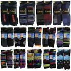 New 3&6 Pairs Mens Designer Socks Cotton Rich Lycra Design Formal Suit Sock 6-11