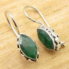 Unseen MARQUISE EMERALD LUXURY Earrings Silver Plated Jewelry 1* WHOLESALE PRICE