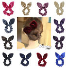 1pc Bunny Ear Bow Hair Scrunchies Ponytail Holder Hair Acces